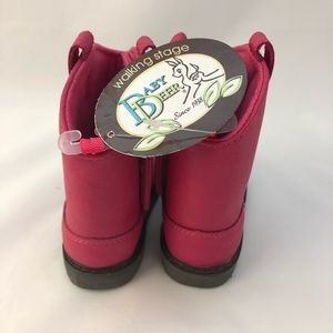 Baby Deer Shoes - Toddler Cowboy Boots pink sz 5